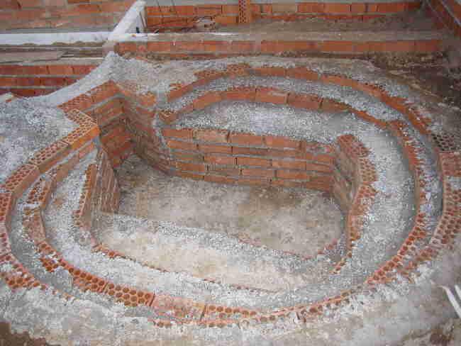 Fotos de la construcci n de mi estanque de obra cemento y for Estanque de hormigon