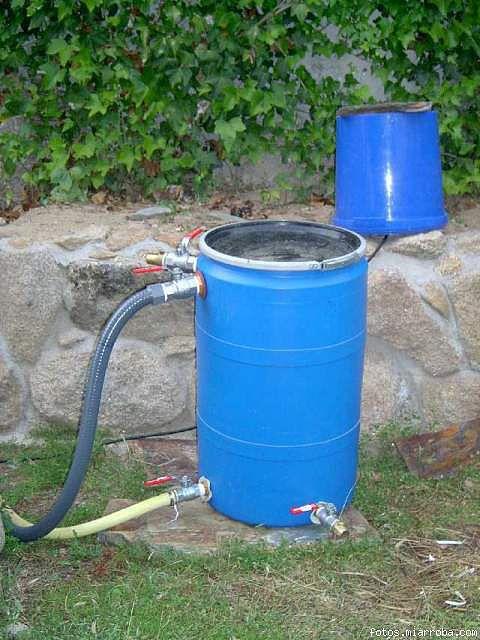 Charca o estanque de 300 litros quiero hacer bomba y for Filtros de agua para piscinas
