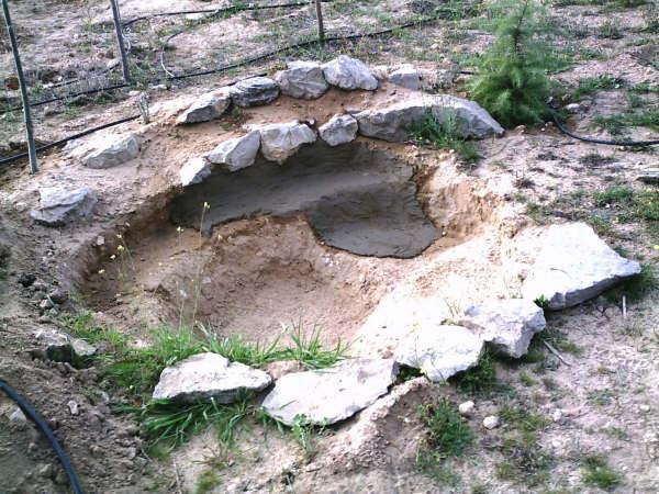 Proceso de construcci n de mi estanque for Fabricar estanque