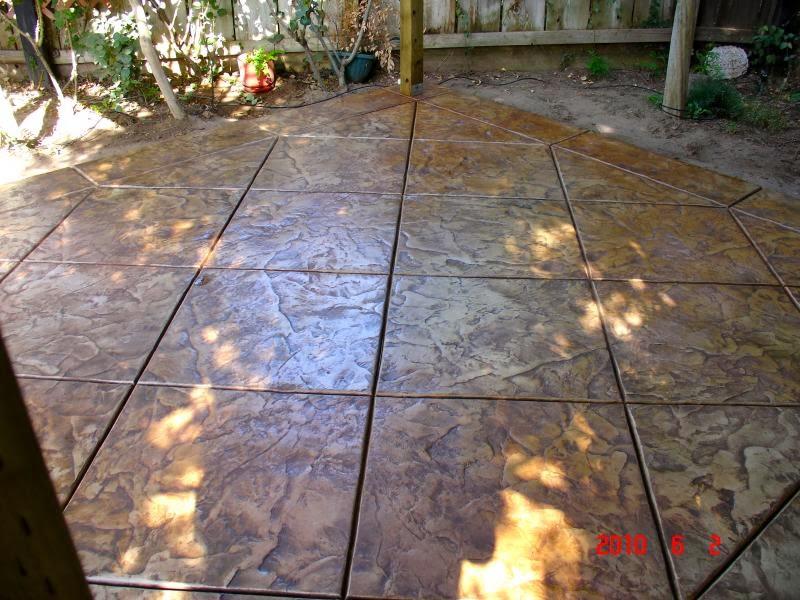 Hormig n impreso caminos y otros trabajos para jardines - Como hacer hormigon pulido ...