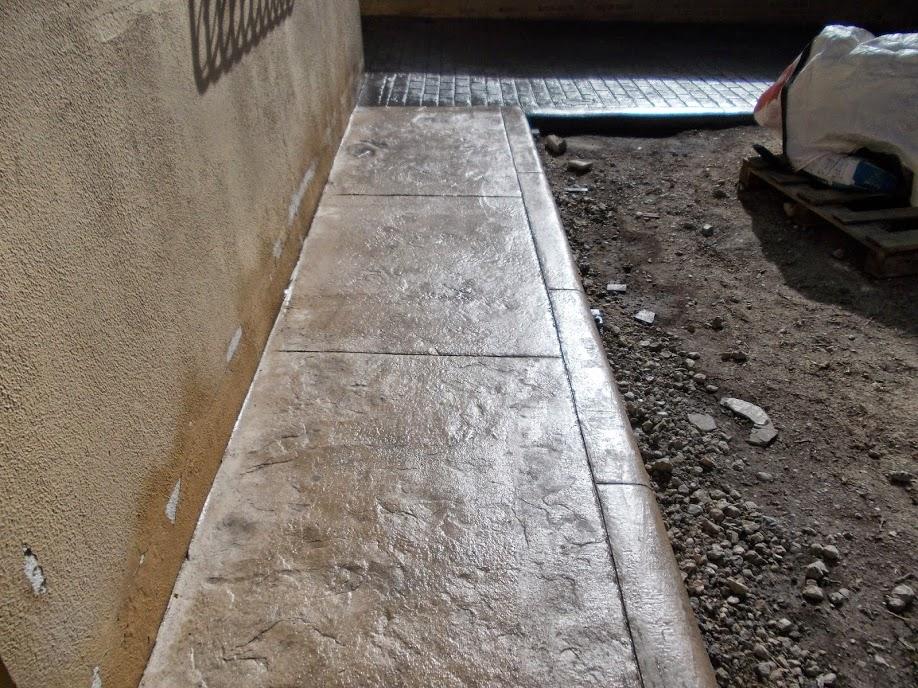 Hormig n impreso caminos y otros trabajos para jardines - Hormigon decorativo para suelos ...