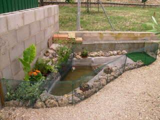 C mo tapar un estanque en invierno para que no se hielen for Estanques pequenos para tortugas