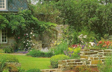 Fotos de r sticos estilo r stico jard n piscina for Jardin style cottage anglais
