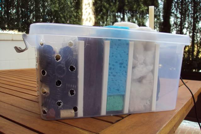 Filtro casero para peque o estanque del patio for Estanques caseros