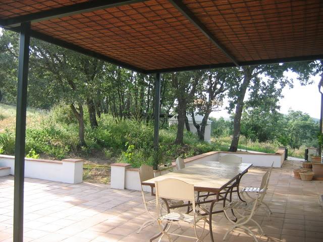 Pergola Con Cubierta Para Dar Sombra En Una Terraza Quiero Hacer - Como-hacer-una-pergola-de-hierro