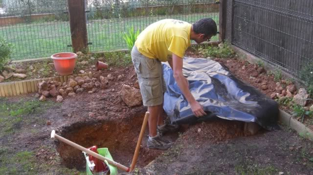 Fotos de mi estanque prefabricado cascada filtro casero for Material para estanques
