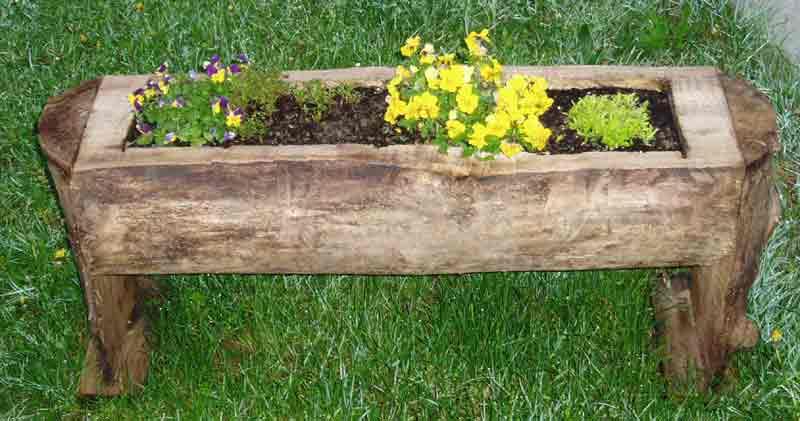 Hacer una jardinera r pido y por 2 euros con arcos de - Arcos de madera para jardin ...