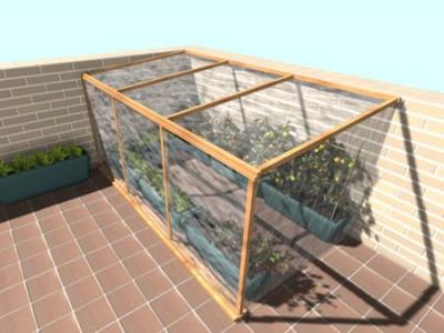 Invernadero peque o de 2x2 m con dibujos - Invernadero en terraza ...