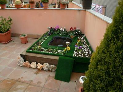 Estanque en la terraza estoy construyendo para mi tortuga for Estanque de tortugas
